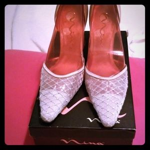 Silver Luster Pumps